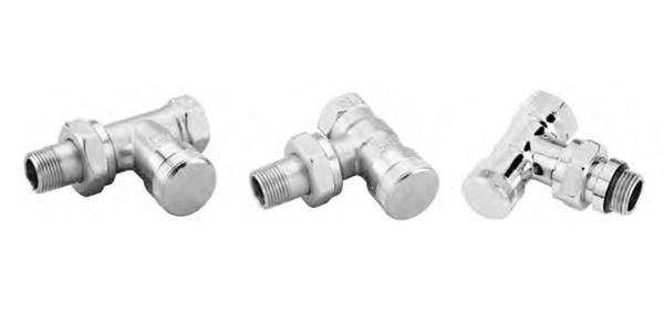 Клапаны запорные радиаторные RLV и RLV-CX Д = 15 мм (хромированный)