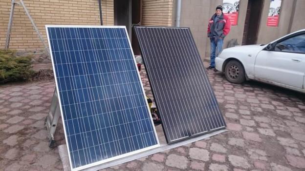 Сравнение солнечных панелей по внешнему виду