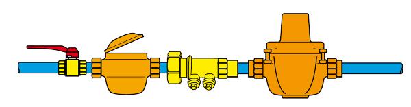 Схема размещения редукционного клапана