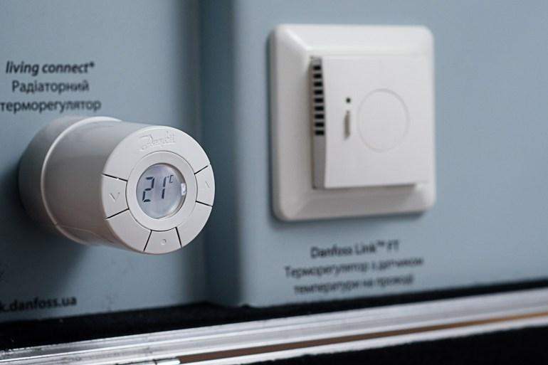 Danfoss Link™ RS – датчик воздуха для беспроводного контроля температуры в помещении.