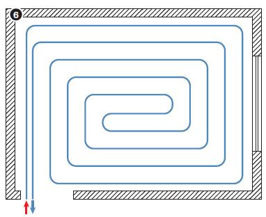 Улитка – способ укладки, требующий детальную монтажную схему