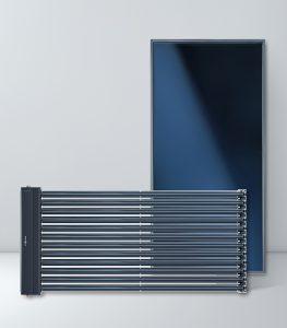 Компанія VIESSMANN пропонує великий асортимент плоских та трубчастих вакуумних колекторів типоряду Vitosol, кожний із яких має спеціальну систему регуляції температури ThermProtect для захисту від перегріву.