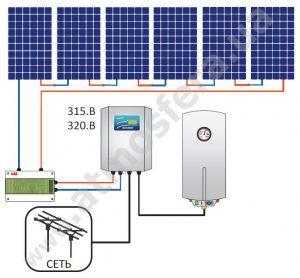Схема фотоэлектрической ГВС