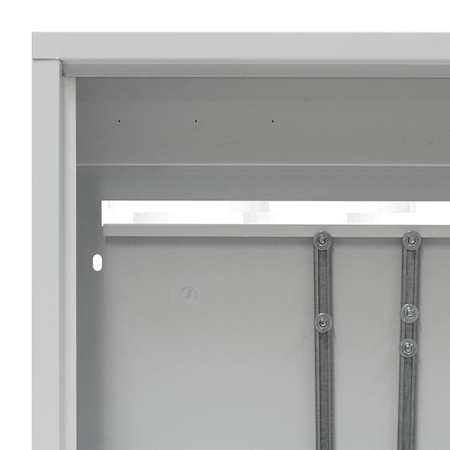 Новая версия наружного и встраиваемого шкафа -направляющая (зацеп) для установки коллекторной группы в конструкции задней стенки шкафа.