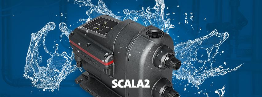 Scala2 – тихий и компактный насос, поддерживающий идеальный напор воды во всех кранах дома