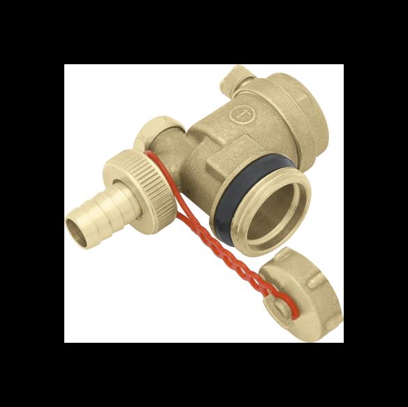 Рис.7. тройник с воздуховыпускным клапаном и спускным вентилем