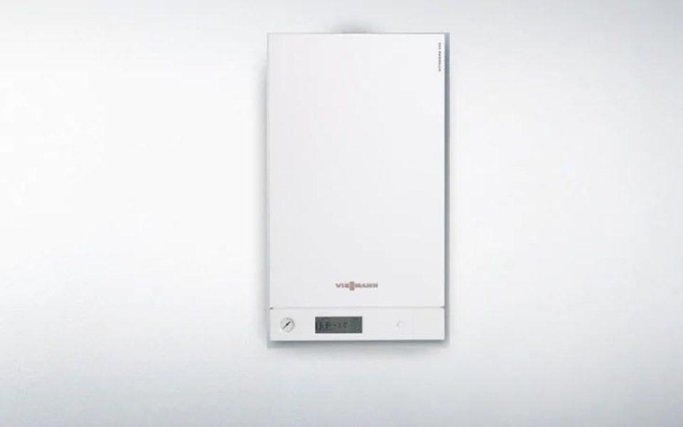 Установка конденсационного котла Vitodens 100-W (Viessmann)