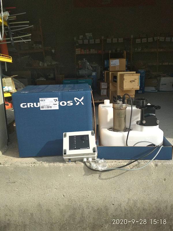 Поставка насосной установки для отвода сточных вод MSS.11.1.2 GRUNDFOS